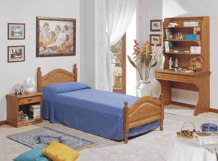Camere da Letto in pino, Camera Ortisei scrittoio, Arredamenti Rustici