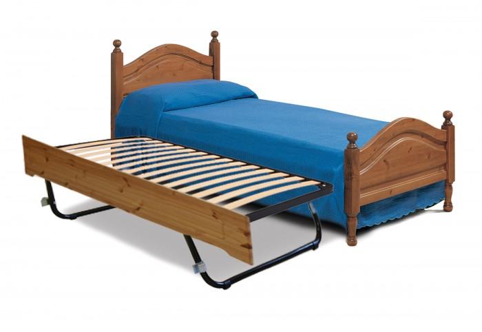 Letti rustici letto singolo con letto estraibile arredamenti rustici - Letti con letto estraibile ...